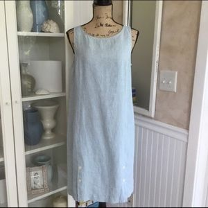 NWT J. JILL Love Linen Button Shift Dress Pockets